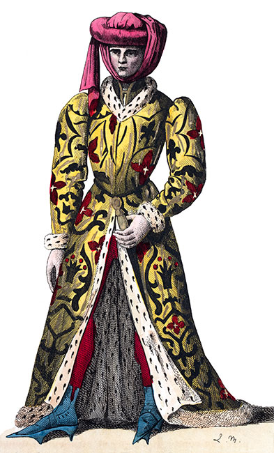 Louis de la Trémoille en son costume, dessiné par Massard - reproduction © Norbert Pousseur