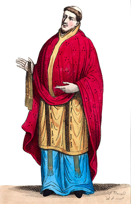 Saint Odon en son costume, dessiné par Massard - reproduction © Norbert Pousseur