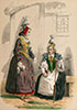 Normandes de Caux en costume traditionel de 1760 - Reproduction © Norbert Pousseur