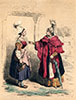 Fermières de Basse Normandie  en costume traditionel de 1760 - Reproduction © Norbert Pousseur