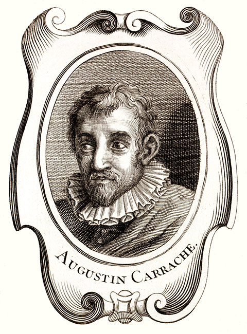 Augustin Carrache, peintre italien - Reproduction © Norbert Pousseur